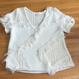 anthropologie - short sleeve sweater
